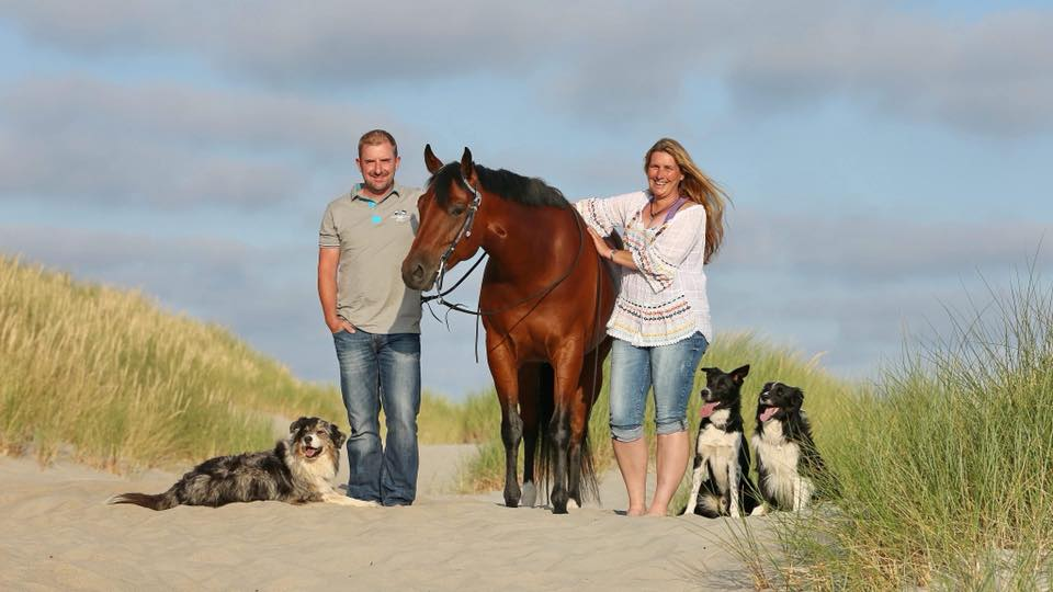 Family am Strand